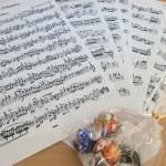 ヴァイオリンの楽譜
