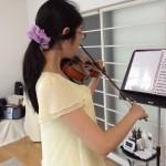 今日の「ヴァイオリン体験レッスン」