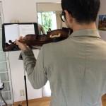 あっという間に 1時間のヴァイオリン練習