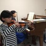 ヴァイオリンでアンサンブルも