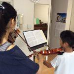 ヴァイオリンの左指の基本