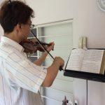 ヴァイオリンの基礎練習を