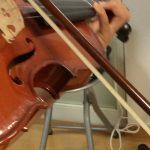 ヴァイオリンの左手の形