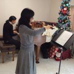 クリスマスコンサートの伴奏合わせ