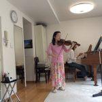 講師もヴァイオリンリサイタル準備♫