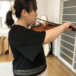 スキマ時間にヴァイオリン練習♫