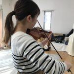 ヴァイオリンの左指先