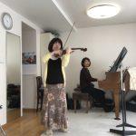ヴァイオリン&ピアノのコンサート準備
