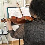ヴァイオリンの水彩画