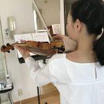 暑い日のヴァイオリン練習に