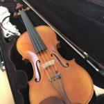 雨の日は教室のヴァイオリンで