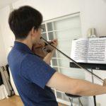 ヴァイオリンの速い重音