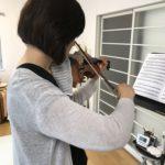 ヴァイオリンのロングトーン