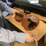 ヴァイオリンの駒に