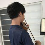 ヴァイオリンは「大きな音で」