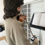 私もヴァイオリンアゴ当てカバーを