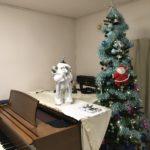 ヴァイオリンレッスン室に「サンタさん」