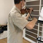 ヴァイオリンでアンサンブルに参加